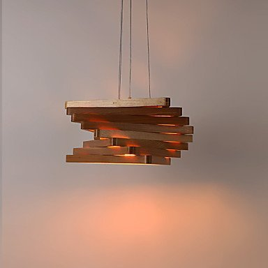 (Kejing Modern Chandeliers Ceiling Lights Pendant 15 Chandeliers Paintings Feature The Mini Style Wood Bamboo Living Room Dining Room Game Room 3C ce Fcc Rohs for Living Room Bedroom, 220-240v)