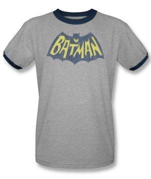 Batman - Classic Batman Logo Ringer T-Shirt Size L