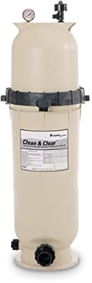 Pentair 160317 Clean & Clear Fiberglass Reinforced Polypropylene Tank Cartridge Pool Filter