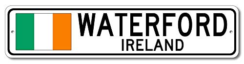 Waterford, Ireland - Irish Flag Street Sign - Aluminum 4