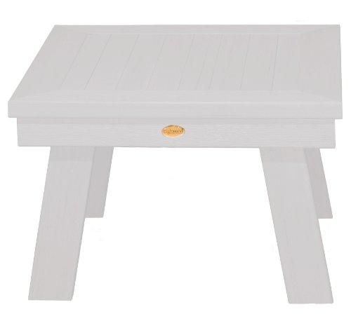 Highwood Adirondack Side Table, White (Round Table Side Adirondack)