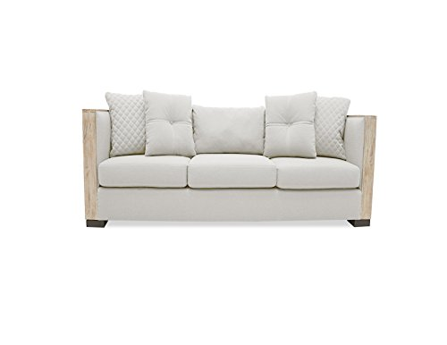 South Cone Home Coraline Linen Sofa, 79″, Sand