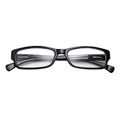 Kids Smart Looks Eye Glasses Rectangle Nerd Children's Clear Lens (Age 6-12) Black: Clothing