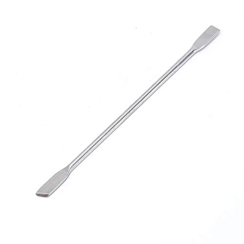 Fan-Ling 1PC Nail Art Dead Skin Remover,Stainless Steel Remover Dead Skin Manicure Tool, Double-head Nail Art Cuticle Push,Silver (B)