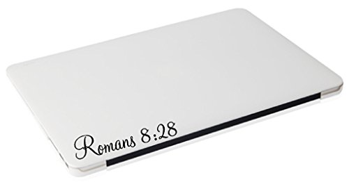 Laptop MAC – Romans 8:28 religious apple macbook funny decal – matte black skins stickers