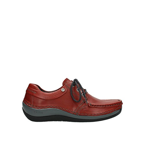 30541 Rouge Winter Coral Comfort Cuir Chaussures Wolky à lacets Hiver YZwUdqg