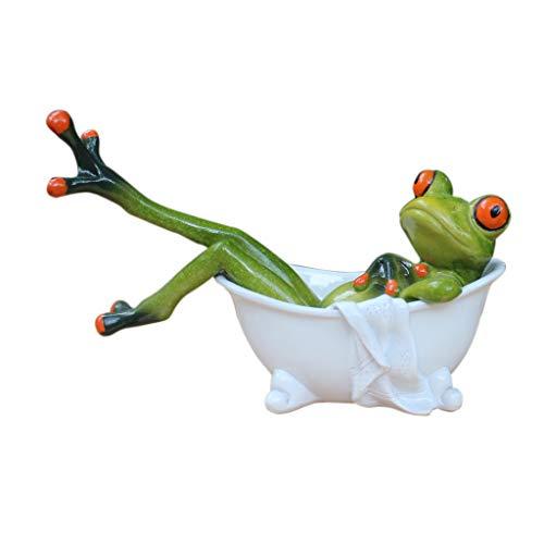 - Homyl Funny Resin 3D Frog Bathtub Novelty Gifts Figurine Office Desk Decorative Crafts