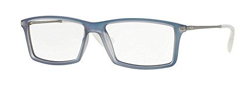 Ray-Ban Matthew Eyeglasses RX7021 5496 Iridescent Azure 55 14 - Ban Ray 14 55