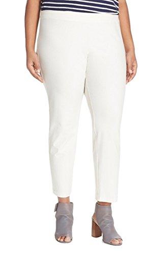 Eileen Fisher Bone Stretch Crepe Slim Ankle Pants 3X
