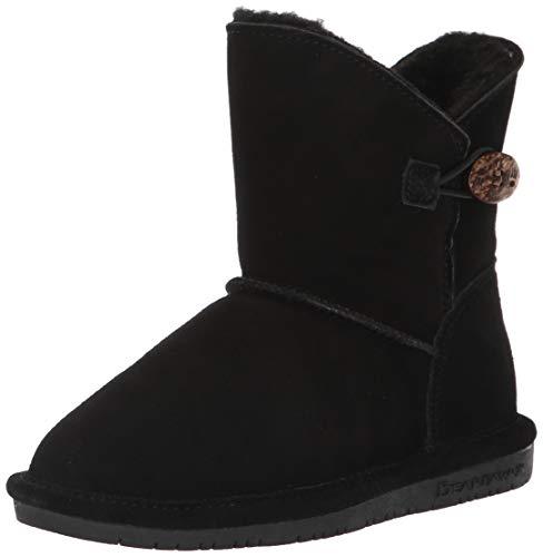BEARPAW Girls' Rosie Fashion Boot, Black ii, 3 M US Big Kid