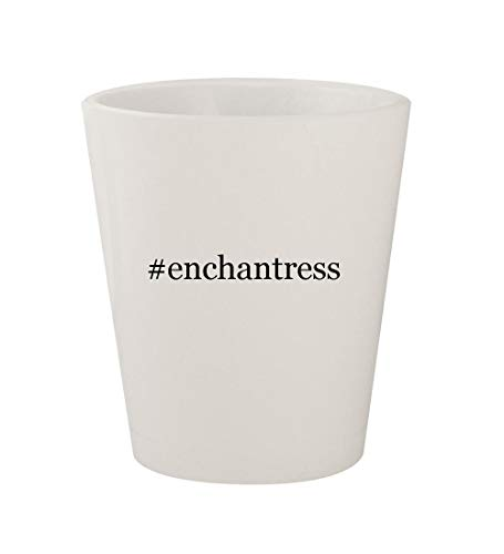 #enchantress - Ceramic White Hashtag 1.5oz Shot Glass