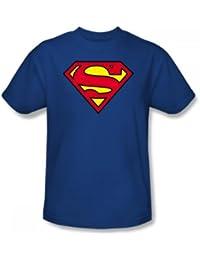 49b220842fd DC Comics Superman Classic Logo Men s Royal Blue T-shirt