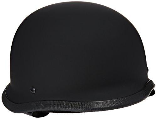 Hci Half Helmet (HCI-115 Half Helmet German-Matt Black (Large))
