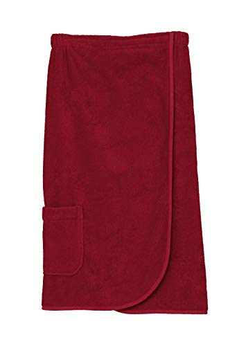 TowelSelections Women's Wrap, Shower & Bath, Terry Spa Towel X-Large Tango Red