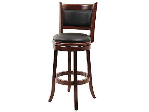 Home Decor Boraam 49829 Augusta Bar Height Swivel Stool, 29-Inch, Cherry