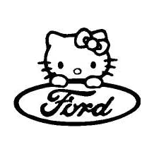 HELLO KITTY Ford - Vinyl Sticker|Cars Trucks Vans Walls Laptop