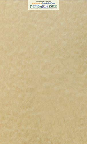(50 Sandy Brown Parchment 65lb Cover Weight Paper 8.5 X 14 Inches Cardstock Colored Sheets Legal Size -Printable Old Parchment Semblance)