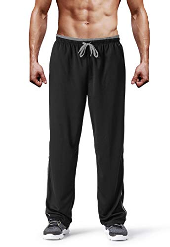 MAGCOMSEN Men's Joggers with Zipper Pockets Sweatpants Open Bottom Wrinkle-Free for Gym, Workout, Running