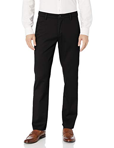 Dockers Men's Slim Fit Easy Khaki Pants, Black (Stretch), 33W x 34L