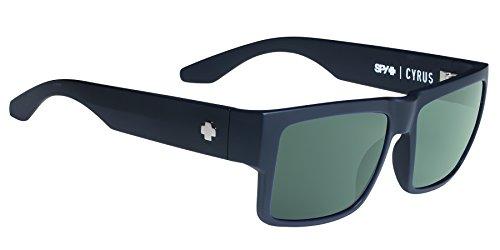 CYRUS SOFT MATTE BLACK - HAPPY GRAY GREEN - Sunglasses Spy New