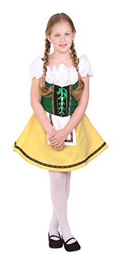 RG Costumes Bavarian Girl Costume, Green/Yellow/White, Large (Dirndl German Girls)