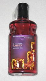 Bath & Body Works Blackberry Amber Pleasures Collection Shower Gel 10 fl (Flip Top Blackberry)