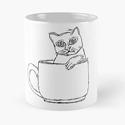 Cat Black Animals,cat Lover Mug - The Office 11 Ounces Funny Cat Coffee Mugs. -