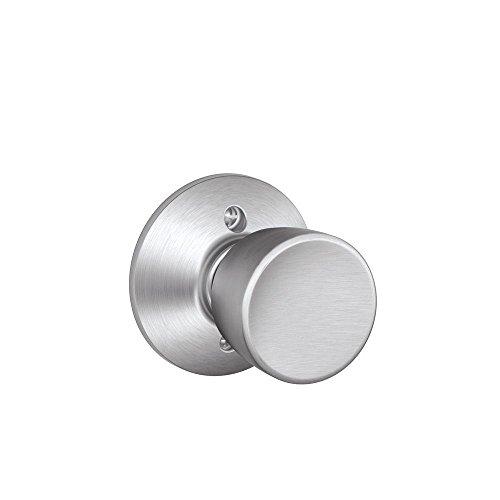 Bell Knob Non-Turning Lock, Satin Chrome (F170 BEL 626) ()