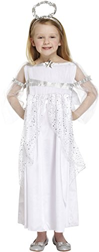 Henbrandt Big Girls' Angel Costume Christmas Nativity Outfit 10-12 Years White