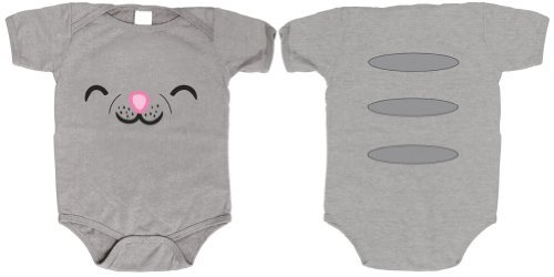 The Big Bang Theory - Soft Kitty Face Onesee / Jumpsuit, Ash Grey, 6-12 Months