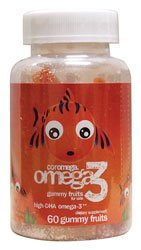 Coromega Omega 3, élevés - DHA Gummy Fruits, 60-Count