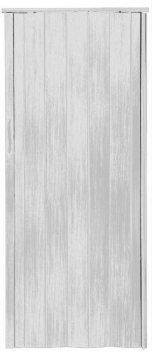 Falttür Schiebetür Tür weiss gewischt farben Höhe 202 cm Einbaubreite bis 85 cm Doppelwandprofil Neu