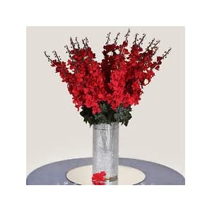 18 to 27 Red Delphinium Stems Filler Silk Wedding Flowers Bouquet Centerpieces 105