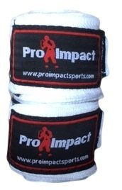 Pro Impact Boxing/MMA Handwraps 180 Mexican Style Elastic 1 Pair WHITE