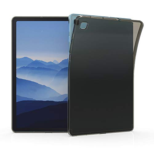 kwmobile Crystal TPU Cover Compatible with Samsung Galaxy Tab S6 Lite - Mobile Cell Phone Case - Black/Transparent
