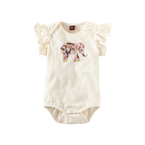 Tea Collection Baby-girls Infant Adik Elephant Romper