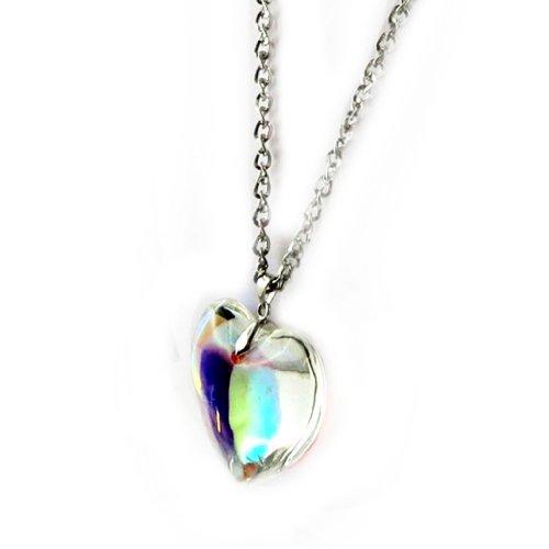 Les Trésors De Lily [B8992] - Sautoir Créateur 'Coeur Hypnotique' Blanc Boréal