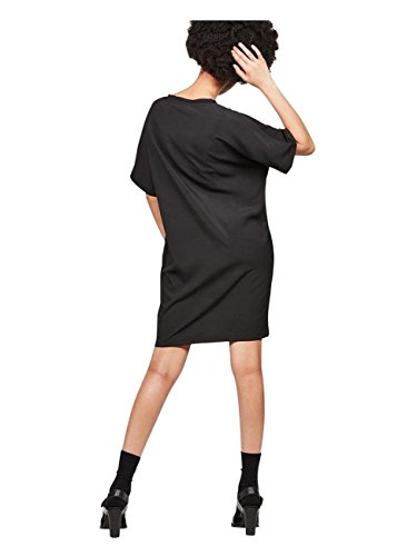 Black Joosa Straight Kleid G 6484 RAW Neck G Star V Dk Fit STAR qxBPfPH