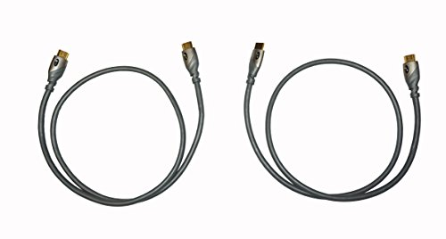 1m Hdmi Cable (2 Pack - Monster MC 700 HD Advanced High Speed 14.3Gbps HDMI Cable - 1M / 3.3 Feet - No Frills Packaging)
