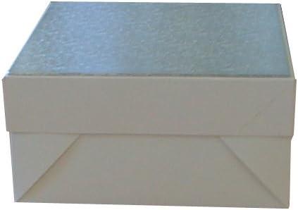 2 x Blanco cajas de cartón cuadradas para tartas 12 x 12 x 6