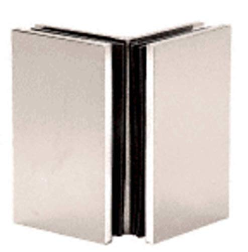 C.R. LAURENCE GE090PN CRL Polished Nickel Geneva Series Glass-to-Glass Bracket