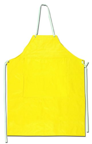 MCR Safety 800S4P 35 by 45-Inch Concord Neoprene/Nylon Sewn Edge Stitched and Taped Seams Apron, - Apron Neoprene