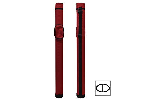 1x1 Hard Pool Cue Case Billiard Stick Carrying Pool Cue Case - 1B1S - Holds 1 Butt and 1 Shaft (Several Colors Available) (Red)