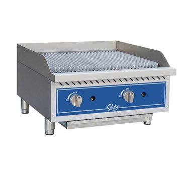 Globe Food Equipment Countertop 24'' S/S Radiant Gas Charbroiler by Globe Food Equipment