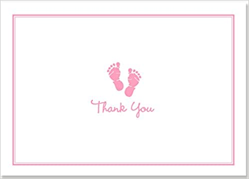 Baby Steps Thank You Notes Pink: Peter Pauper Press