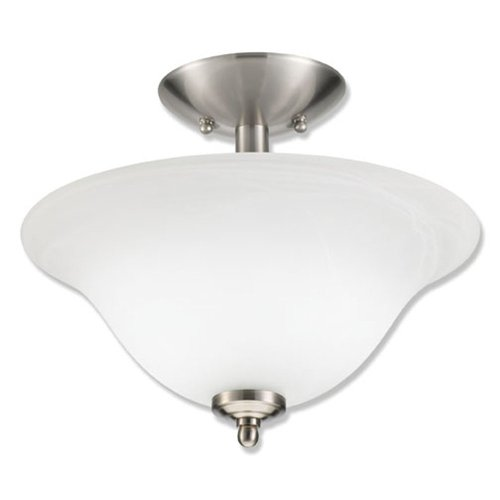 Good Earth Lighting Taverna Direct Wire Semi-Flush Light – Brushed Nickel For Sale