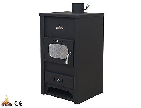 Estufa de leña Combustible Sólido con caldera calefacción Central madera/ carbón 5 + 12,8 kW: Amazon.es: Bricolaje y herramientas