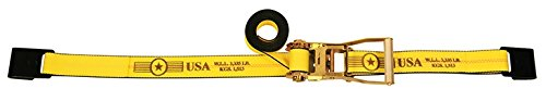 10 Pack of 2'' x 27' Ratchet Tie Down Straps with Flat Hooks - w/ Webbing Made in USA - TieDownsPlus by Tie Downs Plus
