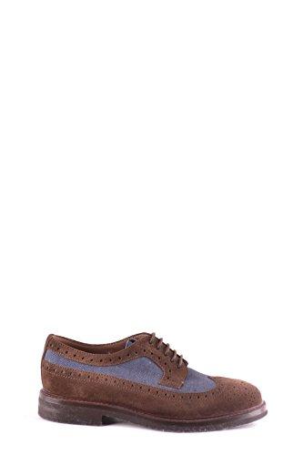 Brunello Cucinelli Hommes Mcbi053070o Chaussures À Lacets En Daim Marron