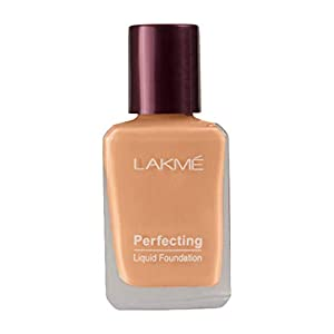 Lakme Perfecting Liquid Foundation, Shell, Long Lasting, Waterproof, Full Coverage, Lightweight Foundation For Oil Free…